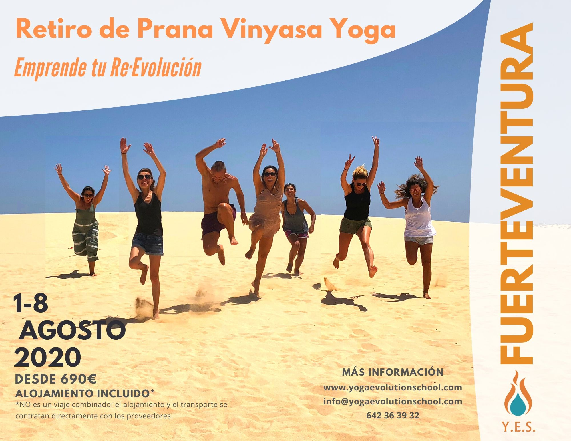Retiro Prana Flow Vinyasa Yoga Fuerteventura